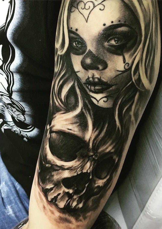 Muerte Tattoo by Ivelin Stefanov | Muerte Tattoos ...