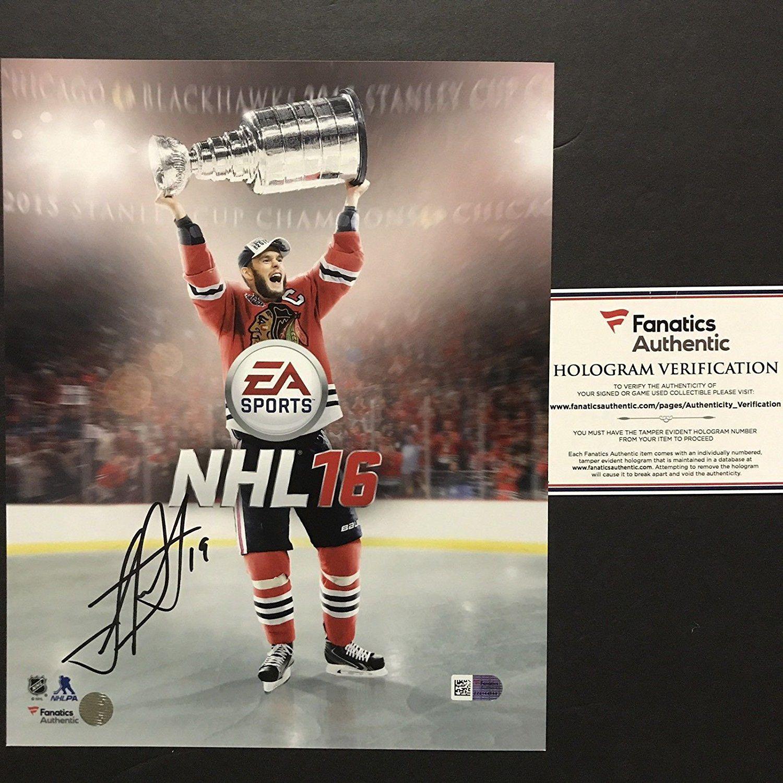 classic fit 75e73 76f61 Autographed/Signed Jonathan Toews Chicago Blackhawks NHL 16 ...
