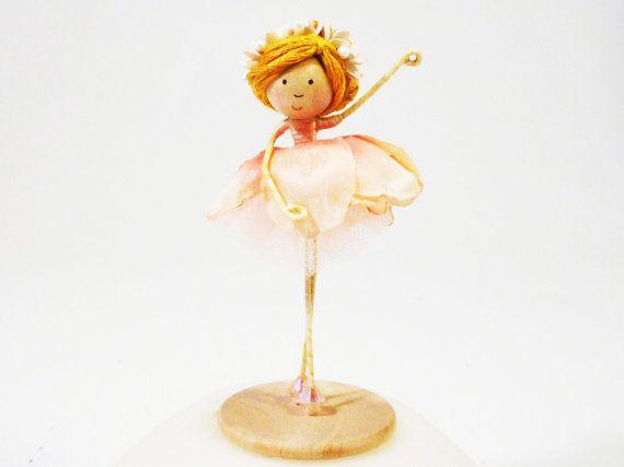 Pink Ballerina Doll Ballet Dancer Miniature Doll by petalbelles, $22.99