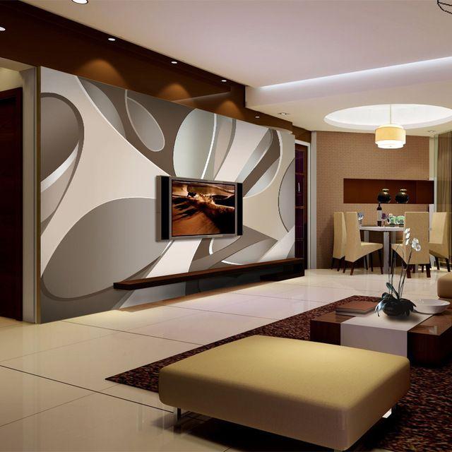 Moderna grande 5d Pared de Papel Mural Papel Pintado de TELEVISIÓN
