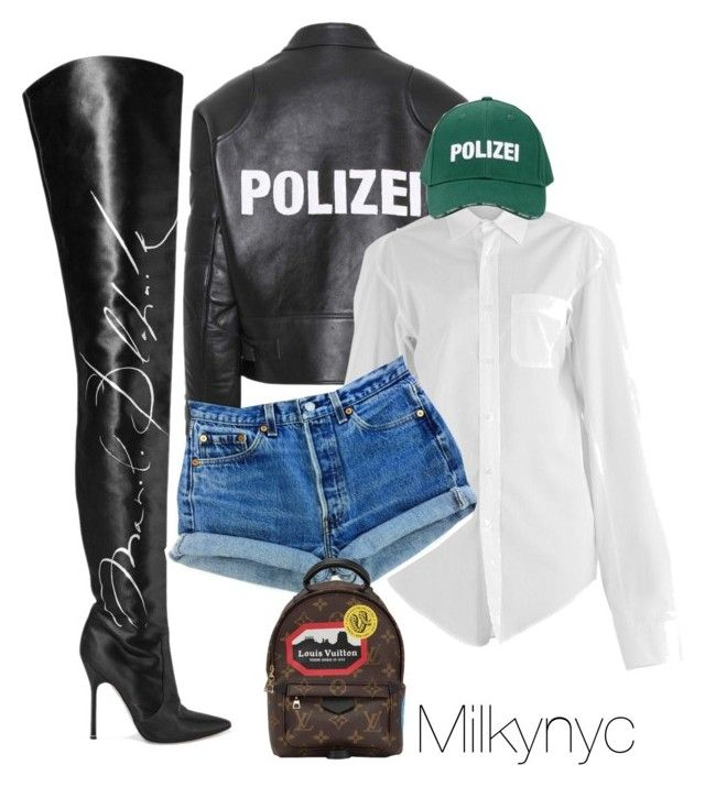 """""""Untitled #975"""" by milkynyc ❤ liked on Polyvore featuring Vetements and Louis Vuitton"""