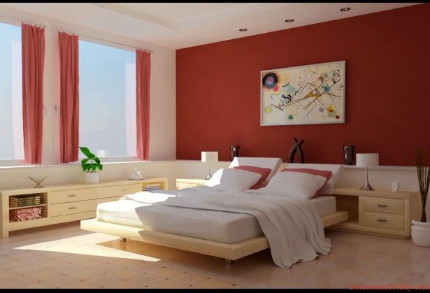 Combinative Bedroom Colours for 2013 to Follow the Current Trend with Stunning Blue: Stunning Modern Style Bedroom Colours For 2013 Red White Interior Color As Cute Veengle Photograph ~ ovceart.com Bedroom Designs Inspiration