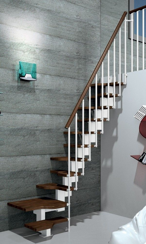 Gamia Mini Space Saving Stair Kit White Metalwork In 2020 Loft Stairs Stairs Loft Staircase
