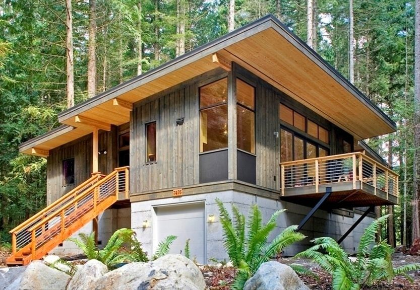 Mount Baker Green Prefab Rental Cabin By Method Modern Prefab Homes Modular Home Builders Prefab Homes