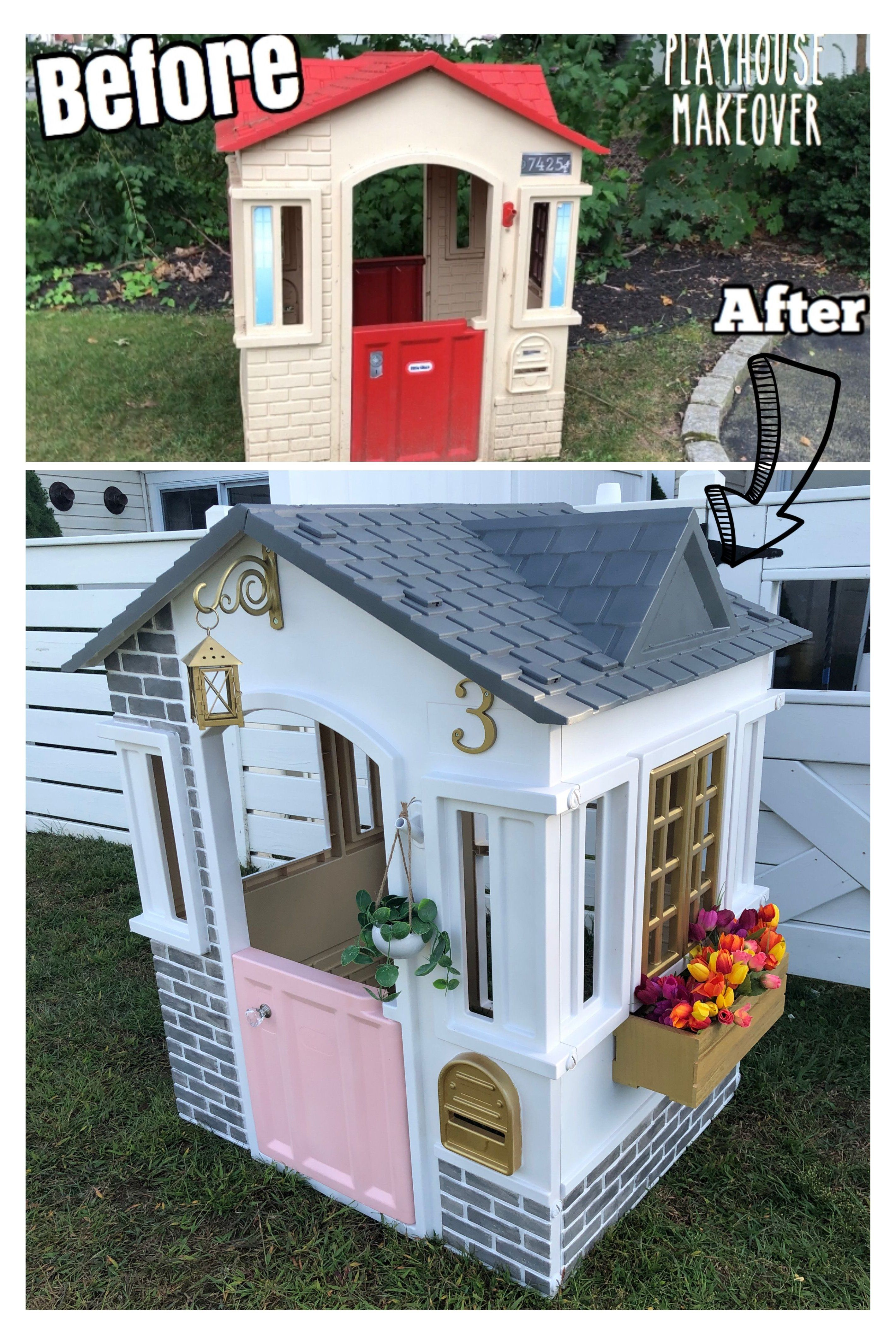 Little Tike Playhouse Makeover plastic in 2020 Play