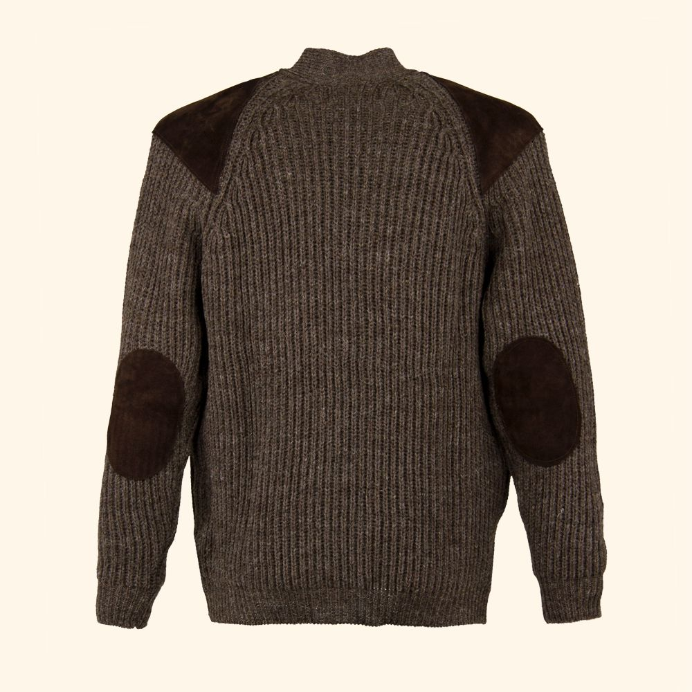 JBardale Wells cardigan patches Brown :: Mens knitwear :: Heren ...