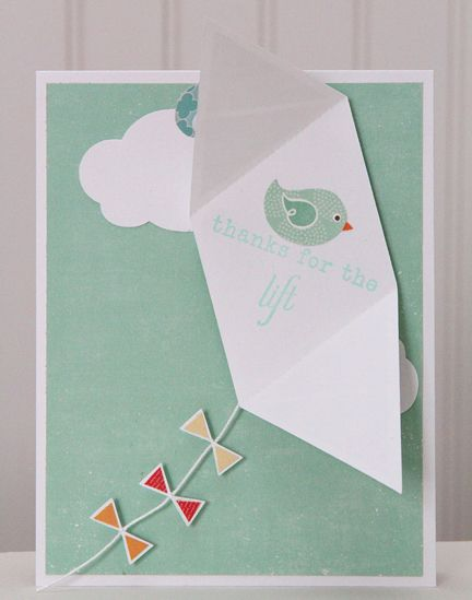 Kite Card Template  Pretty Paper Projects    Card