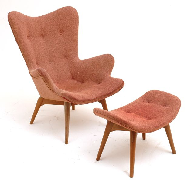 Grant Featherston...love the color and the cute foot stool!