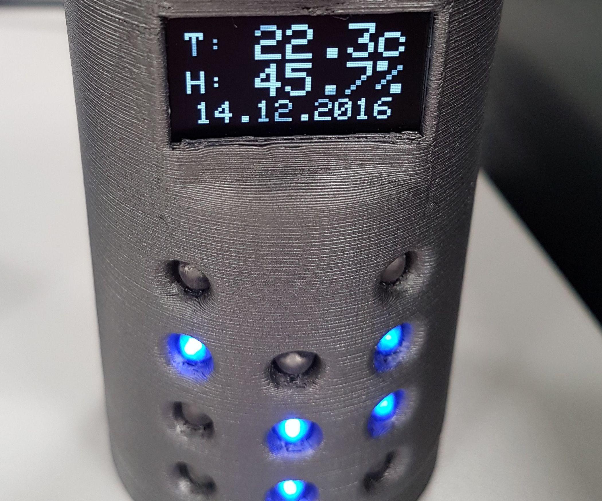Arduino Binary Clock Printed