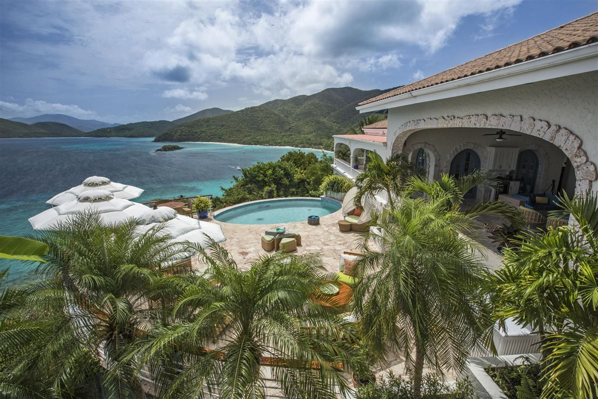 Cliff house in the us virgin islands island house