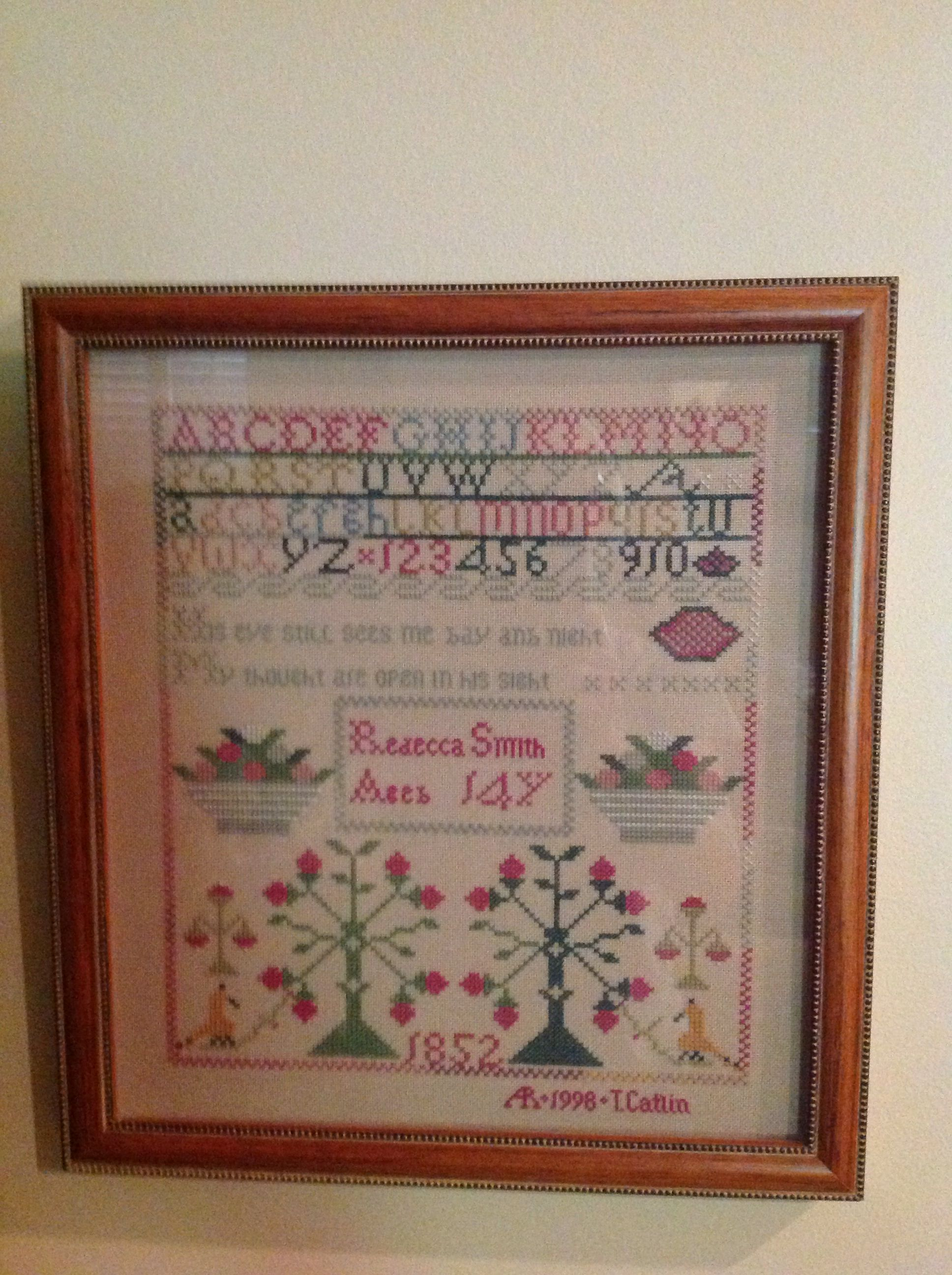 Rebecca Smith Reproduction Sampler Class Taken In Nashville From