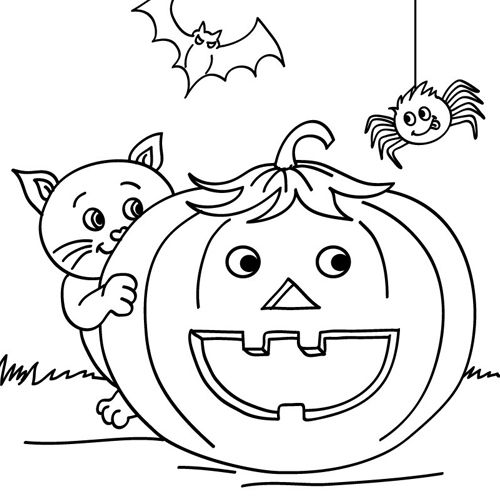 Colouring Pages Smiling Pumpkin Friends Halloween Coloring Sheets Pumpkin Coloring Pages Halloween Coloring Book