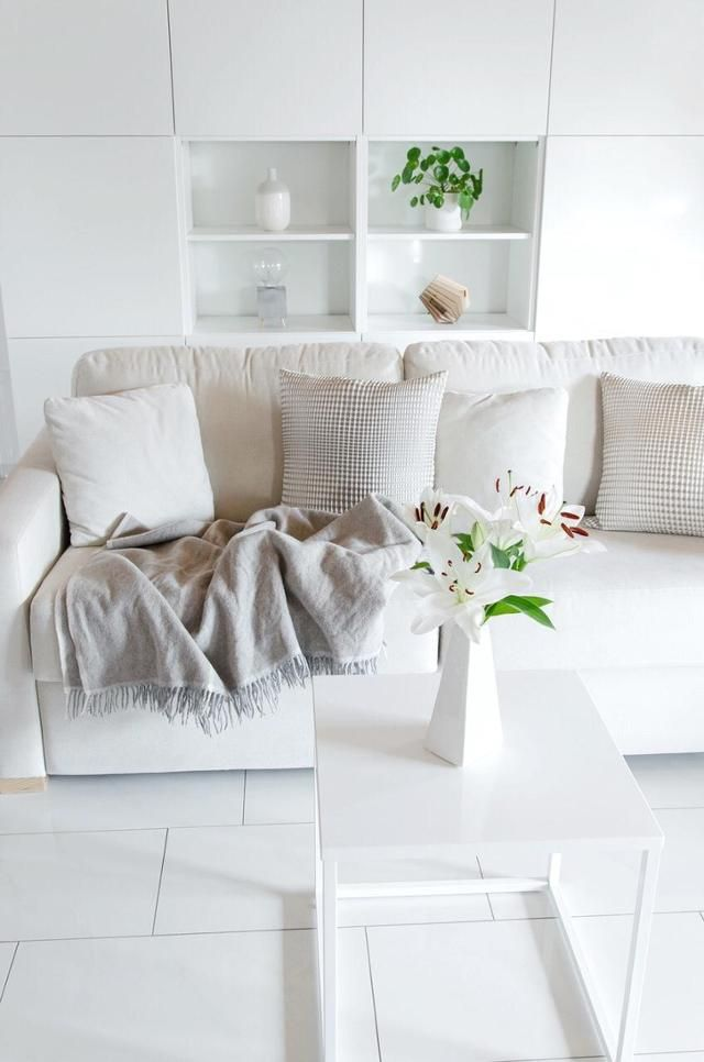 Ganz in Weiß wohnt WIESOeigentlichnicht Mittelpunkt im Wohnzimmer - wohnzimmer grau rosa