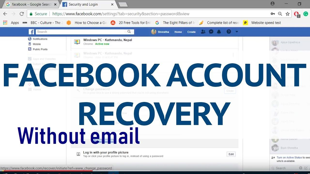 Facebook Account Recovery Without Email Account Recovery Accounting Recovery