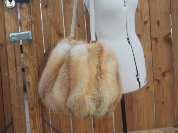 Large Real Red Fox Bag for Shirley only by DawnONeillDesigns