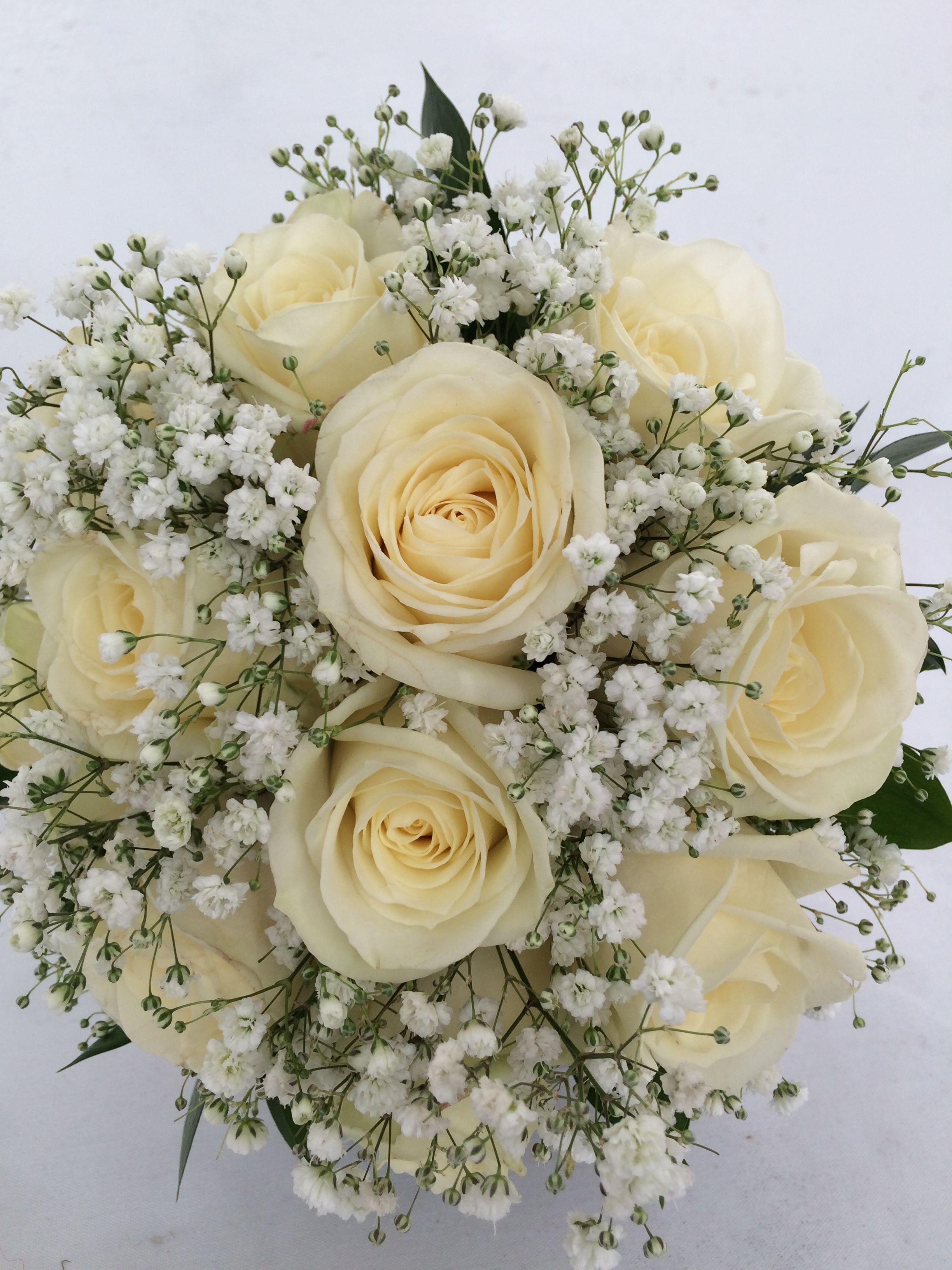 Buquê Rosas Brancas Ramos De Novia Novios Boda Y Boda