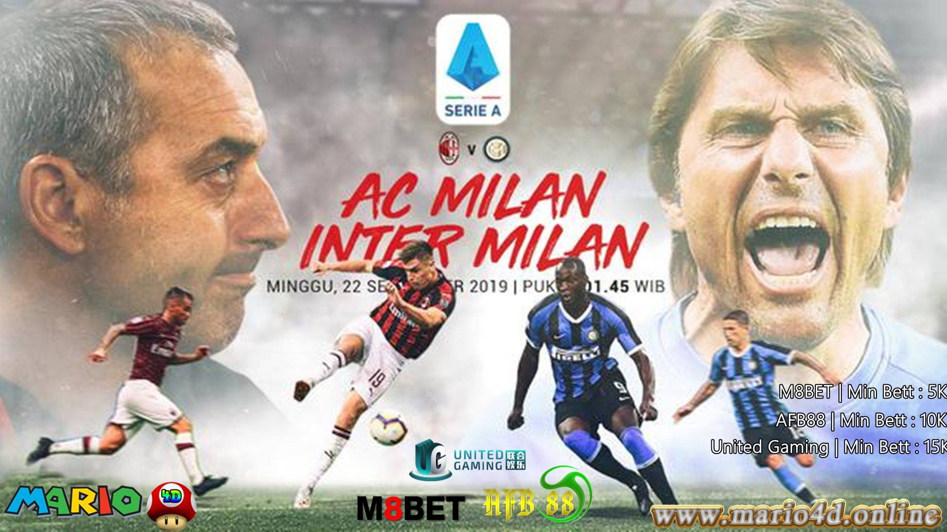 AC Milan vs Inter Milan MINGGU| 22 Sept 2019 | 01.45 WIB