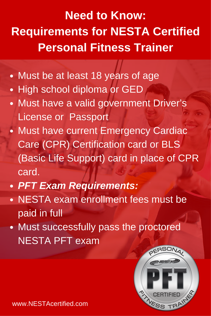 Need To Know This Are The Requirements For Nesta Certified Personal