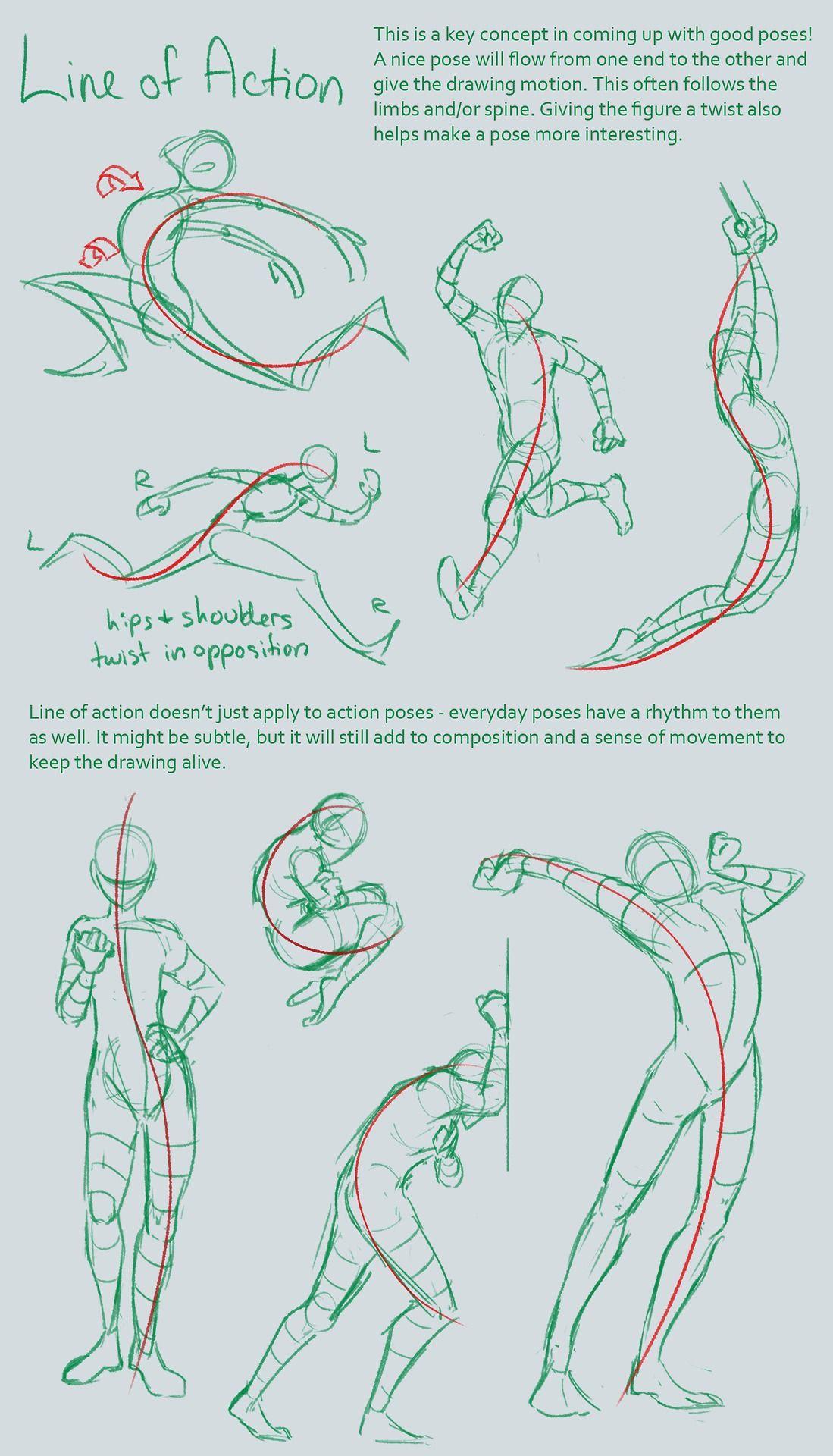 Drawing Tutorial body line | bidimension | Pinterest | Anatomía ...