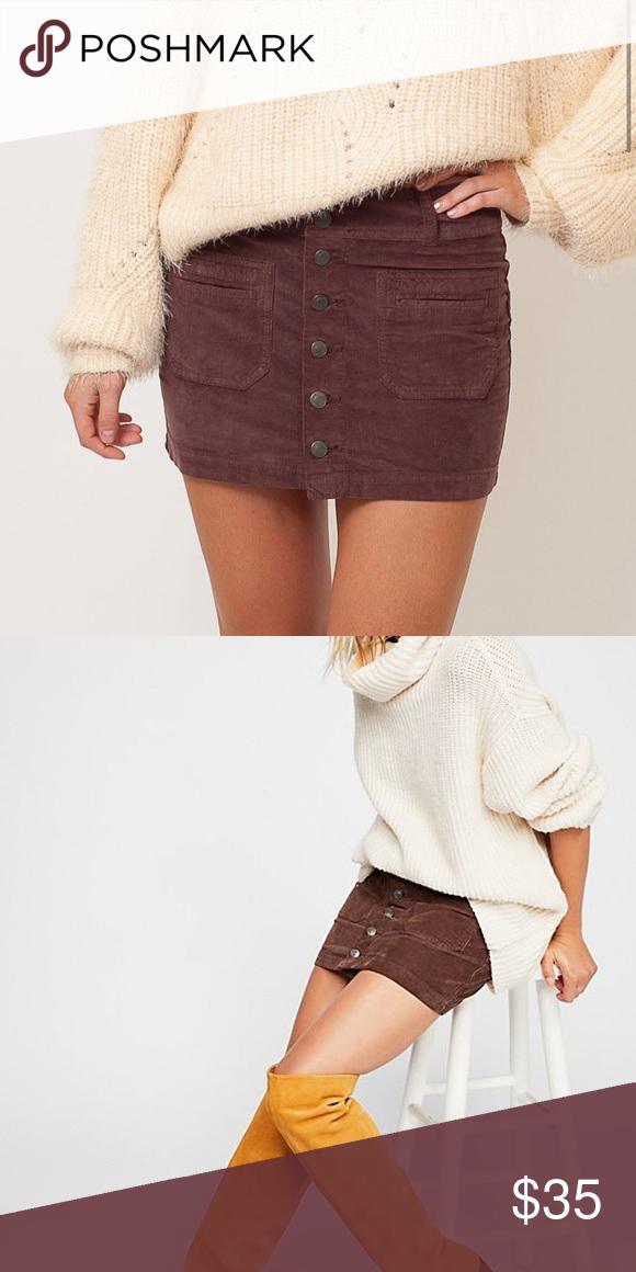 54052ee489 NWT Free People Joanie Corduroy Button Skirt New with tags: Free People  Joanie Skirt Feel