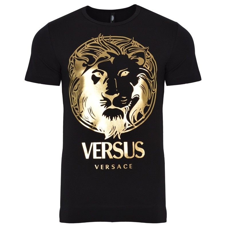 825bb5b5 Versus Versace Gold Lion Print T-Shirt | GarmentQuarter | Clothing | 服