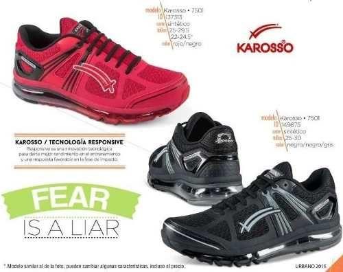 4e6d365c184a3 Tenis Para Correr Karosso 7501 Valvula D Aire