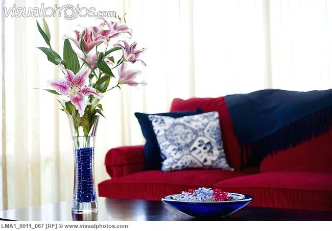 Astounding Red Blue Grey Living Room For The Home Red Couch Pillows Interior Design Ideas Oxytryabchikinfo