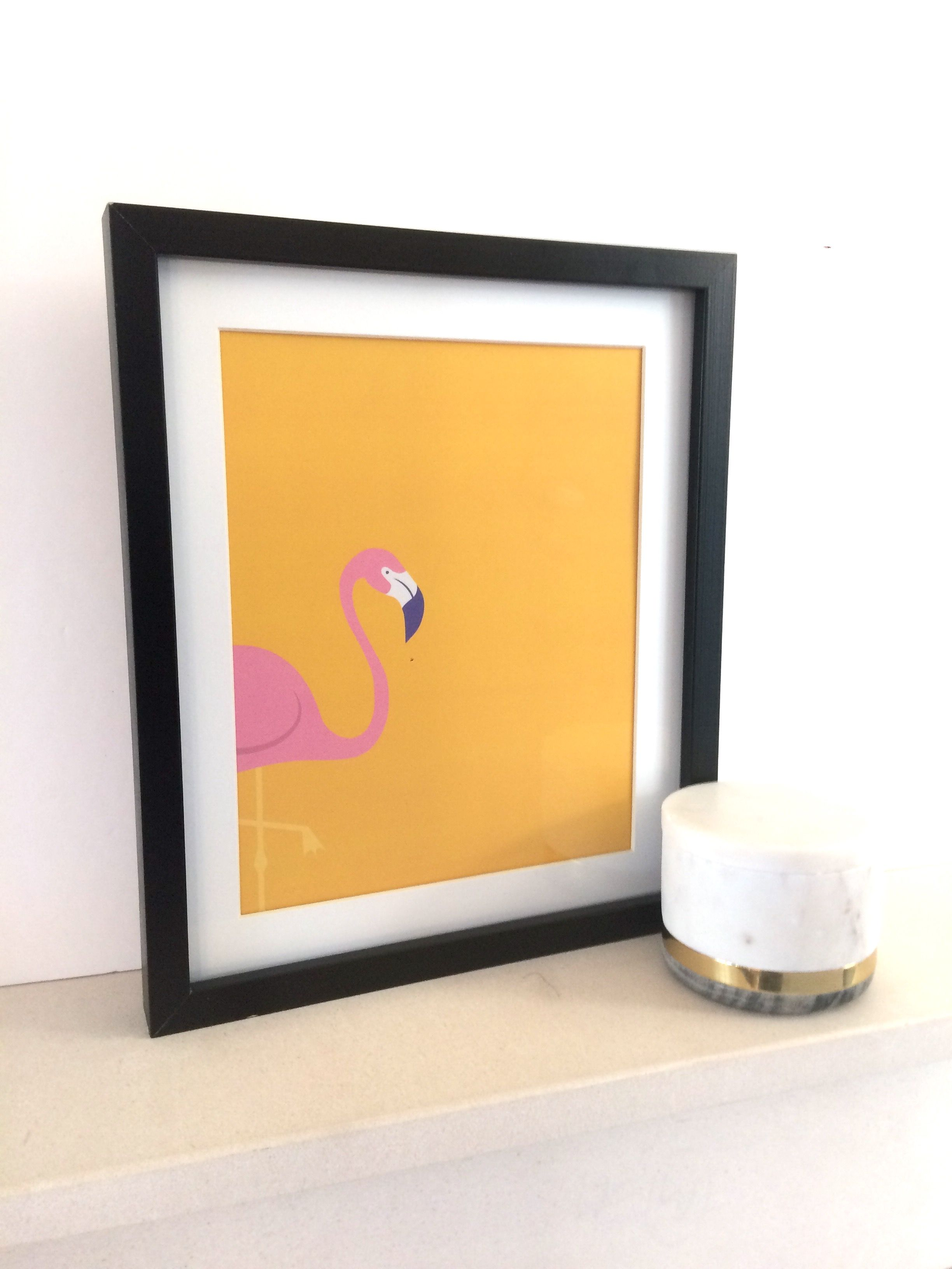 Flaming flamingo print tropical prints gifts flamingo pink home ...