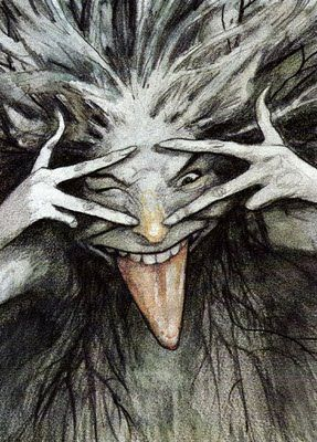 A mischievous fairykind from Brian Froud.