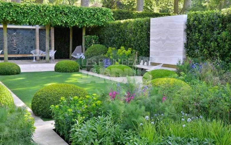 Jardin devant maison moderne avec Haute Qualité Fonds d\'écran ...