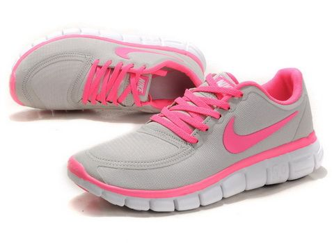 2012 Womens Nike Free 5.0 V4 Grey Pink #Red #Womens #Sneakers