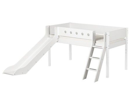 Mid High Bed Picture Toddler Bed With Slide Bed With Slide