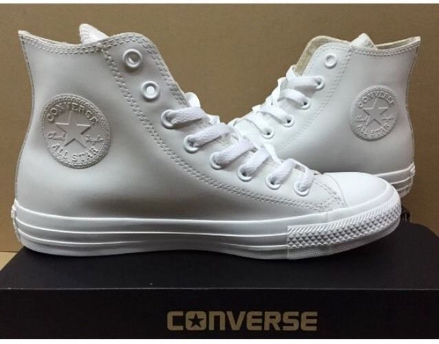 CONVERSE Chuck Taylor All Star White Rubber HI Shoes 144746C US Sz 10.5 Men   Converse  AthleticSneakers 8573b288f