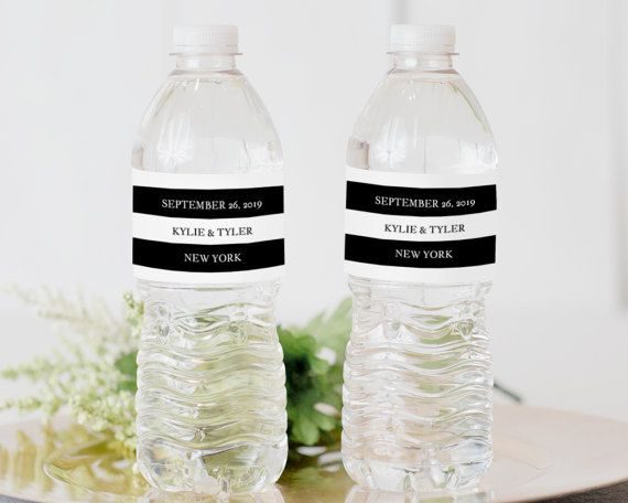 Printable Water Bottle Label Water Bottle Label Template
