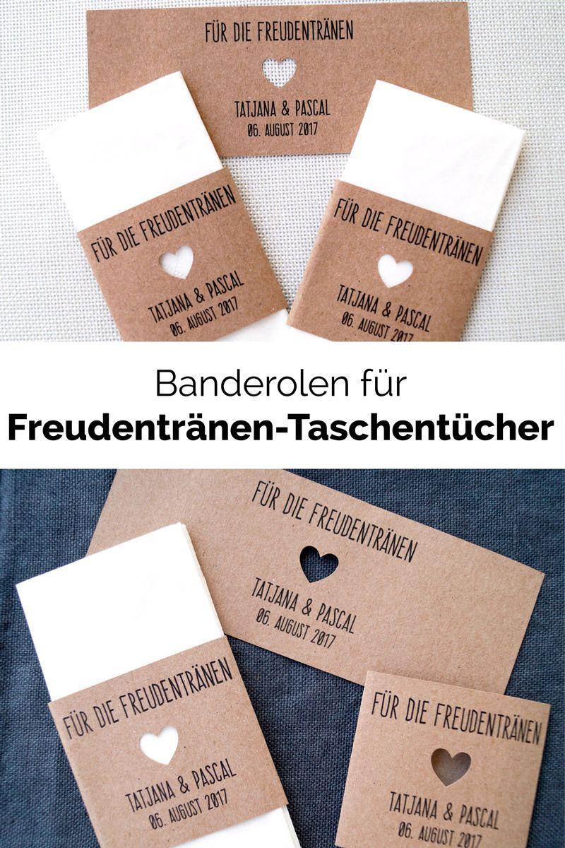 """10 Banderolen für """"Freudentränen"""" Taschentücher"""