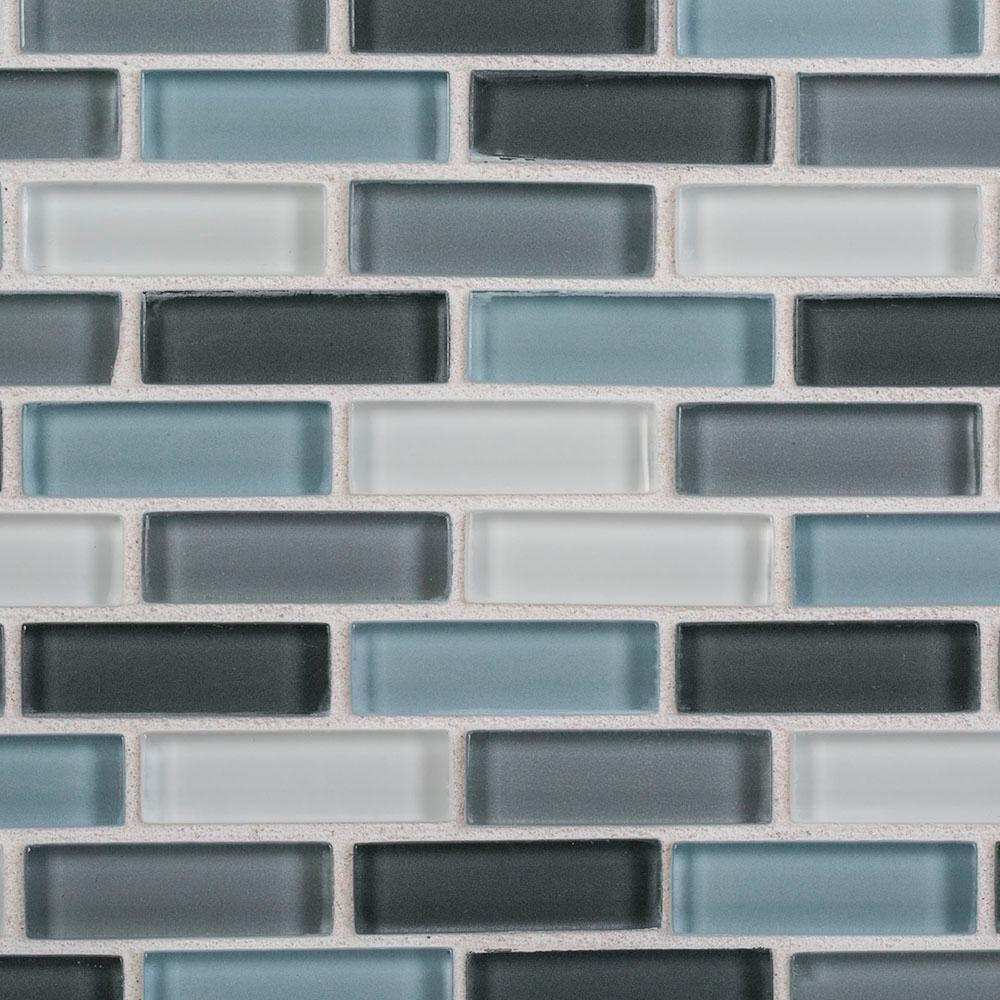 Jeffrey Court Malibu Breeze 9 75 In X 11 875 In X 8 Mm Interlocking Glossy Glass Mosaic Tile 98441 The Home Depot Mosaic Glass Glass Mosaic Tiles Mosaic Tiles