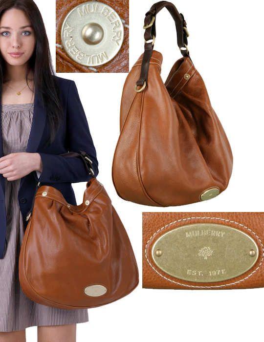 7b32b4f650 Mulberry Oak Mitzy Hobo Pebbled Leather Bag This Mulberry Oak Mitzy Hobo bag  is the latest