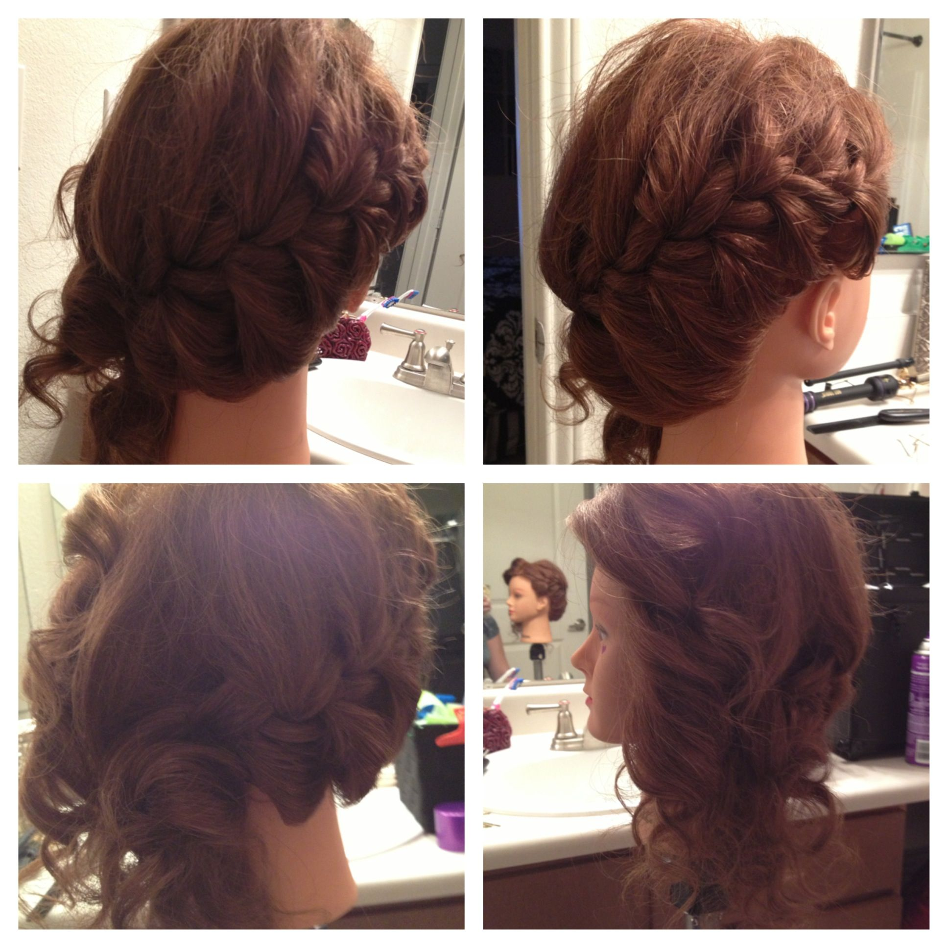 Prom hairside braid with curls on side wedding designs