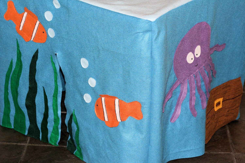 Under the sea ocean felt card table fort playhouse via etsy