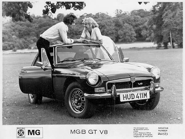 MGB Roadster Greeting Card A5 size