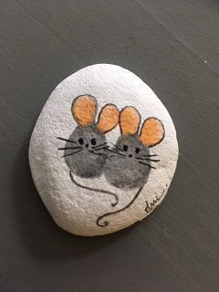 Easy Paint Rock For Try at Home (Stone Art & Rock Painting Ideas) – #art #EASY #…