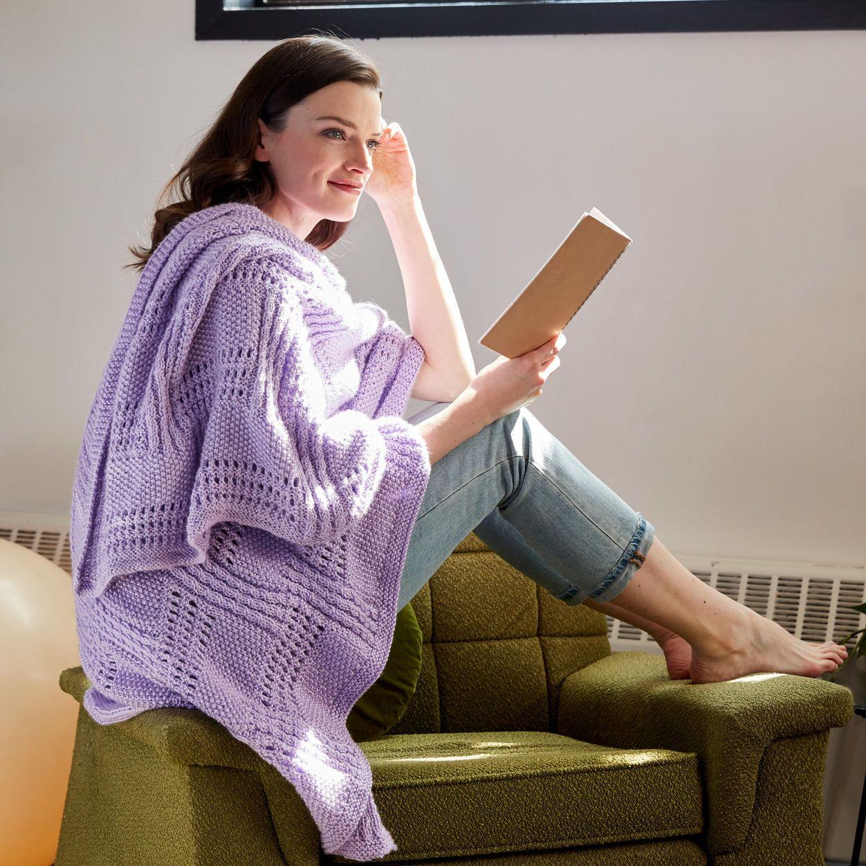 Free Pattern Stacked Up Knit Wrap | Intermediate knit shawl ...