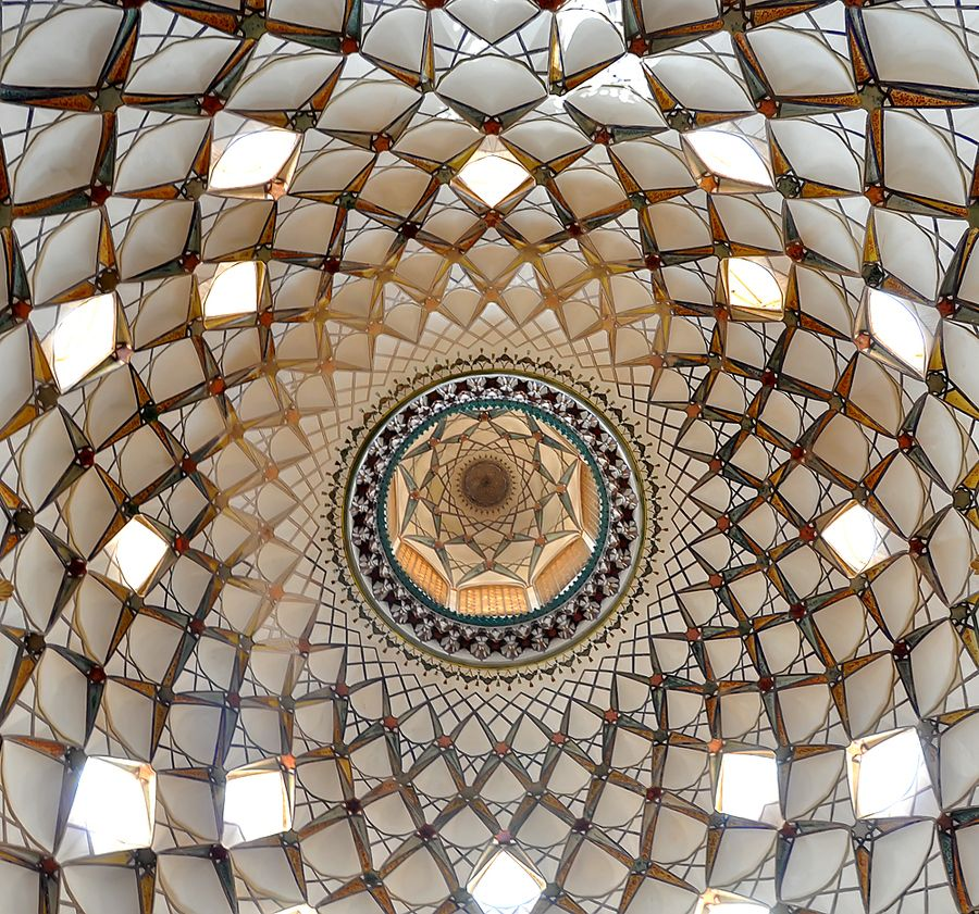 Ceiling of Mosque in Iran.