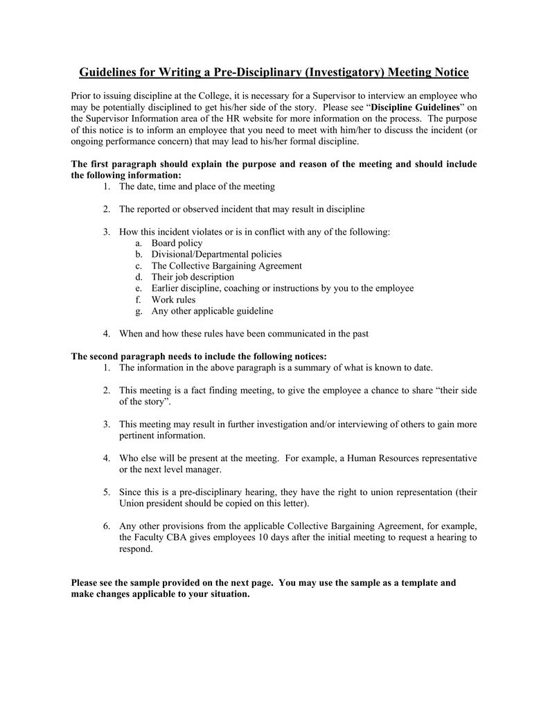 Guidelines For Writing A Pre Disciplinary Investigatory Regarding Investigation Report Template D Report Template Professional Templates Book Report Templates