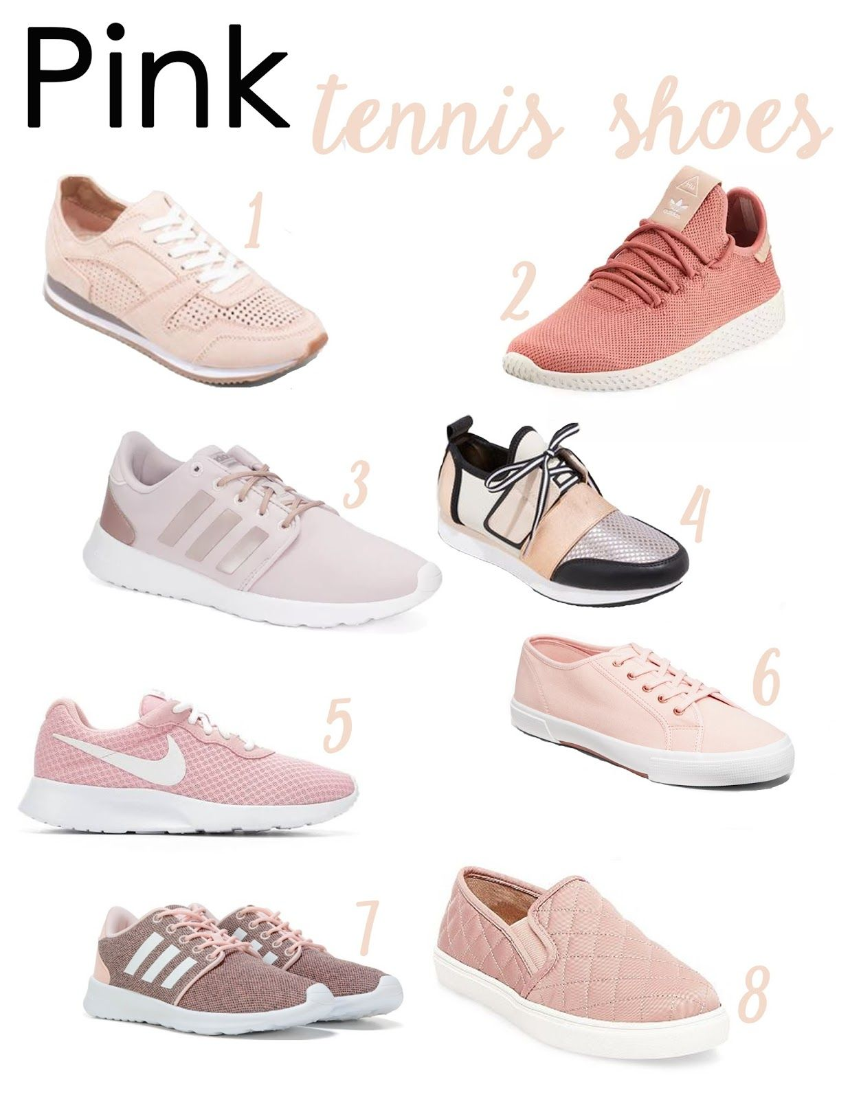 Pink Tennis Shoes || Affordable pink