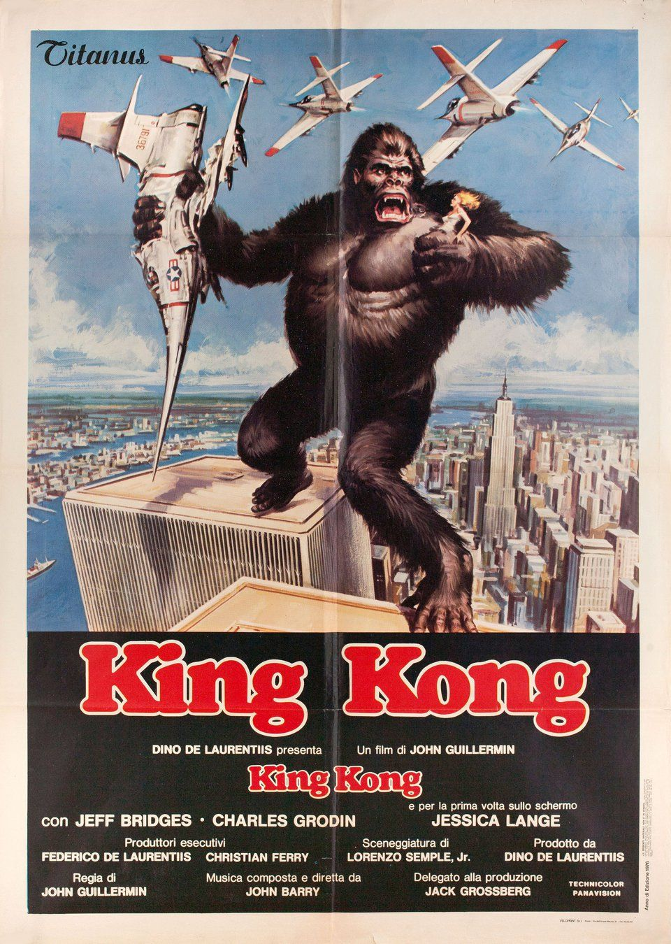 King Kong 1976 Italian Due Fogli Poster Posteritati Movie Poster Gallery New York King Kong Art King Kong Kong