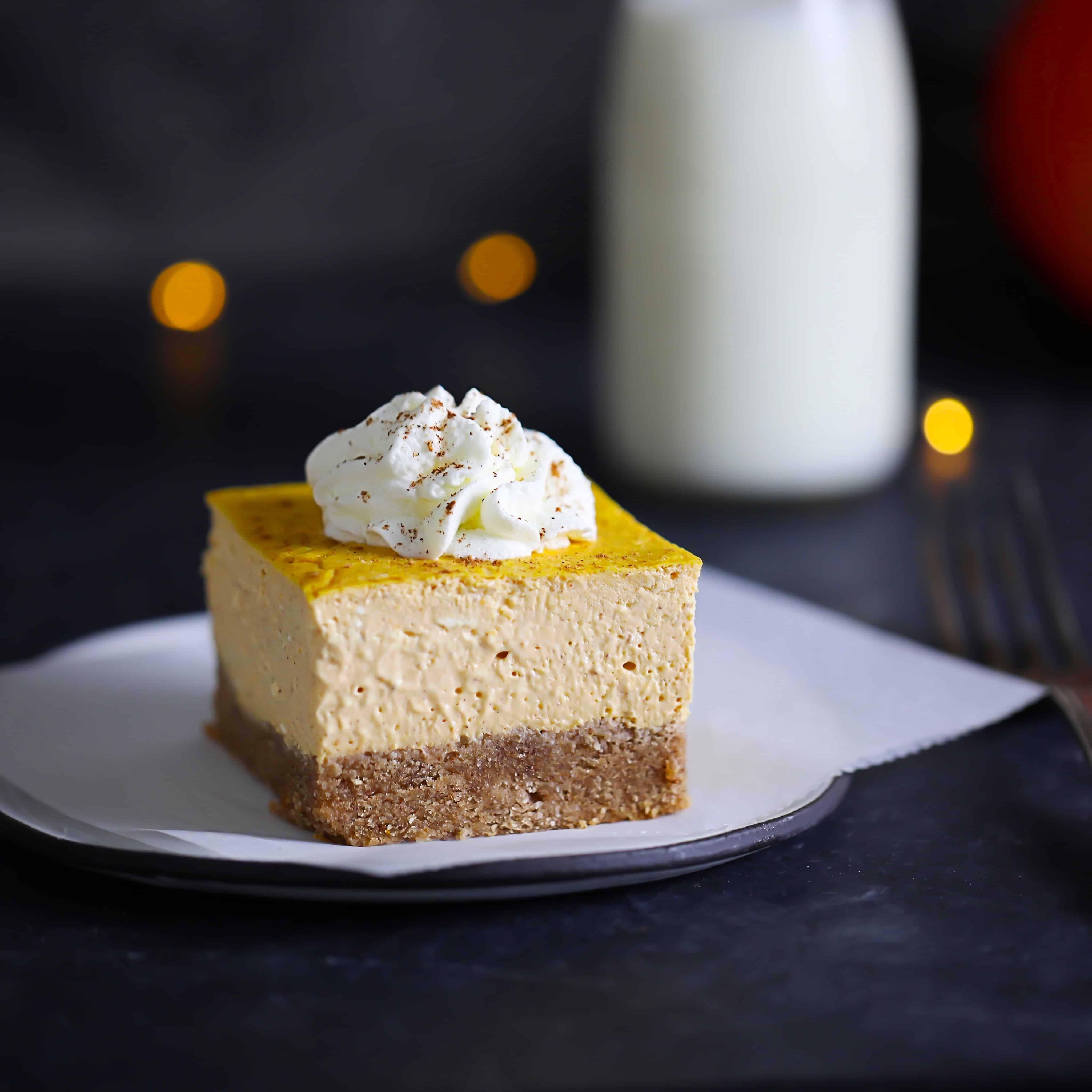 Keto Pumpkin Cheesecake Bars Dreamy Keto/Grain-Free Pumpkin Cheesecake Bars with graham cookie crust!