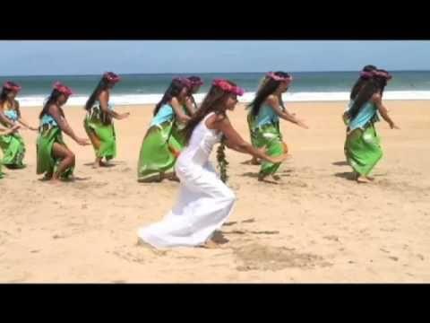 Mehana And Her Hula Sisters Dance Hanalei Moon On Hanalei Beach