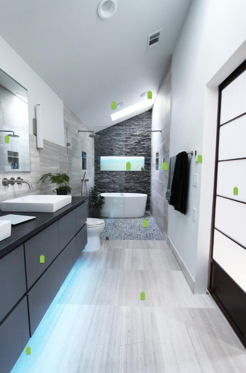 Photo Salle Bain Moderne salle de bain en longueur #salle de bain | salle de bains