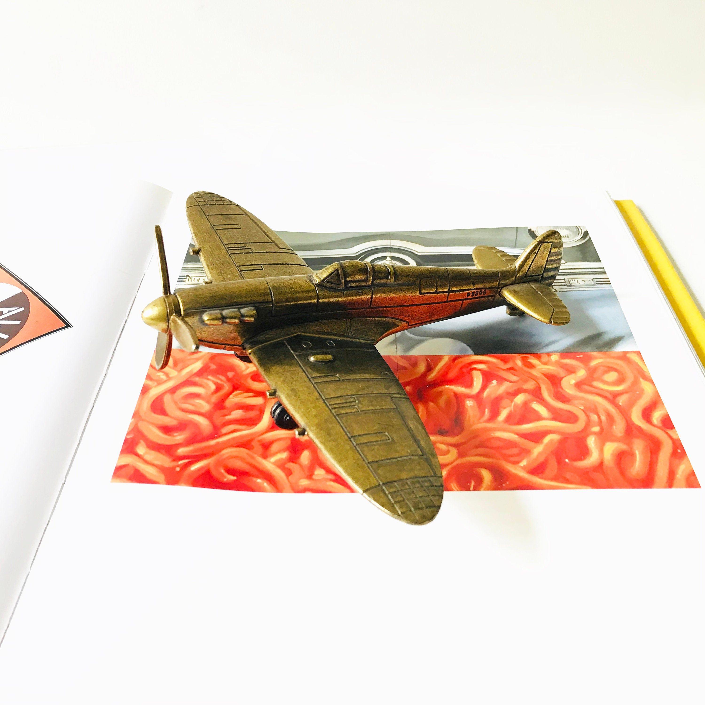 Vintage Brass Spitfire P9398 Paperweight Airplane Plane Etsy Vintage Brass Aviation Gift Shabby Chic Jars